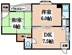 MKマンション玉津[2階]の間取り