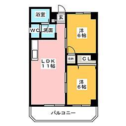 メゾンドシルバー[3階]の間取り