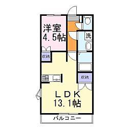 兵庫県加古川市尾上町今福の賃貸アパートの間取り