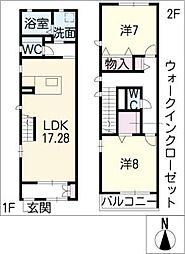 [タウンハウス] 愛知県名古屋市千種区今池南 の賃貸【/】の間取り