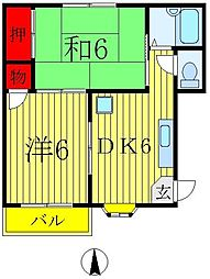 ホーマット金町II[1階]の間取り