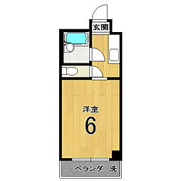 伏見上野ハイツ[406号室]の間取り