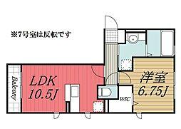 D-room B[1階]の間取り