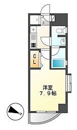 カレント新栄[3階]の間取り