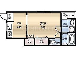 鶴見商店街住宅新棟西[1階]の間取り