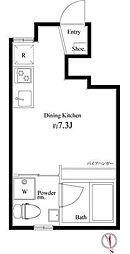 キングハウス新宿御苑[0101号室]の間取り