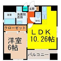 YOSHINO SQUARE(ヨシノスクエア)[7階]の間取り