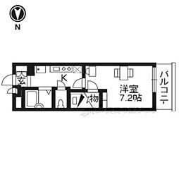 京阪宇治線 六地蔵駅 徒歩3分の賃貸アパート 3階1Kの間取り
