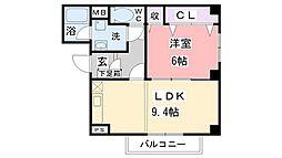 大阪府和泉市伯太町5丁目の賃貸アパートの間取り