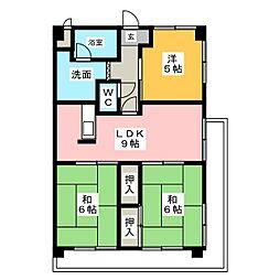 第2サンシャインマンション[4階]の間取り