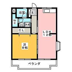 LIANGE A・B[1階]の間取り