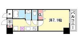 アドバンス三宮6クレスト[4階]の間取り