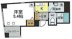 JR山手線 西日暮里駅 徒歩9分の賃貸マンション 5階1Kの間取り