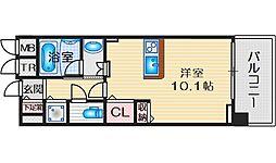 THEGARDENSUITE(ザガーデンスイート) 3階ワンルームの間取り
