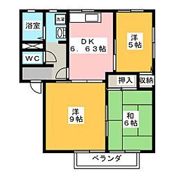 ディアスG 1棟[1階]の間取り