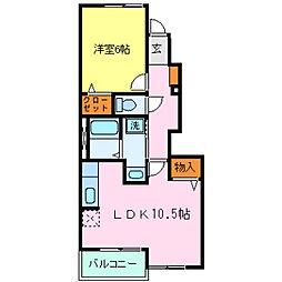 兵庫県神戸市西区玉津町西河原字野手の賃貸アパートの間取り