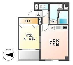 吹上アパートメント[5階]の間取り