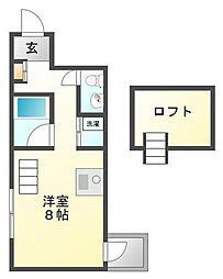 C4 Koshien east[5階]の間取り