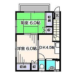 泉町賃貸[2階号室]の間取り