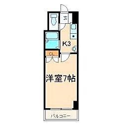 福岡県北九州市小倉北区江南町の賃貸マンションの間取り