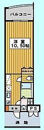 ロイヤルリバービュー143[1008号室]の間取り