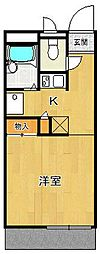 レオパレスエスパシオ21B[304号室]の間取り