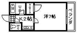 小山ハイツ[202号室]の間取り