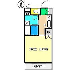 フォレスト21[1階]の間取り