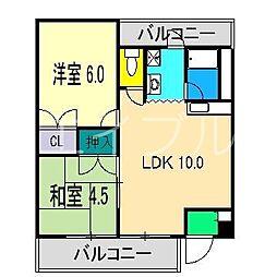 ファミールM[3階]の間取り