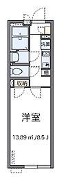 JR中央線 八王子駅 徒歩23分の賃貸マンション 1階1Kの間取り