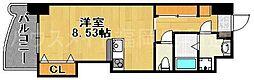 ロイヤルリバービュー143[4階]の間取り