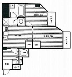 コーポラス幡ヶ谷 幡ヶ谷の分譲賃貸 スーパーの多いエリアで便[2階]の間取り