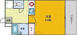 PURE SAKURA松屋町[4階]の間取り