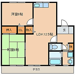 セジュールIMAMURA[206号室]の間取り