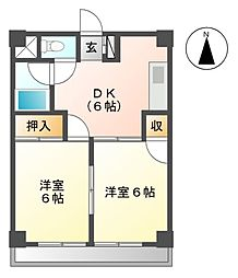 エムズハウス栄[6階]の間取り
