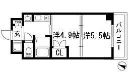 プレステージ天神3[3階]の間取り