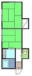 金市アパート[102号室]の間取り