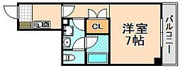 兵庫県伊丹市南本町4丁目の賃貸マンションの間取り