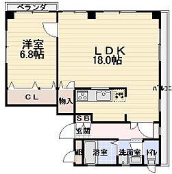 JPアパートメント守口[402号室]の間取り
