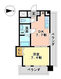 クレールヘイワ(CLAIR HEIWA[9階]の間取り