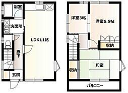 [テラスハウス] 神奈川県厚木市温水 の賃貸【/】の間取り