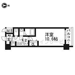 アール京都グレイス303[3階]の間取り
