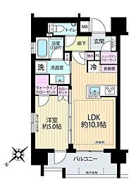 リストレジデンス築地[11階]の間取り