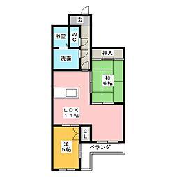 グランルーテシア[2階]の間取り