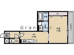 京阪本線 野江駅 徒歩7分の賃貸マンション 4階1DKの間取り