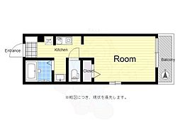 京王線 芦花公園駅 徒歩6分の賃貸アパート 2階1Kの間取り