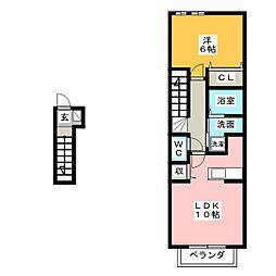 パル・メゾンII[2階]の間取り