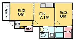 KSヒルズ2[1階]の間取り