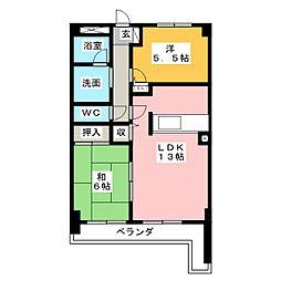 レジデンス若松[2階]の間取り