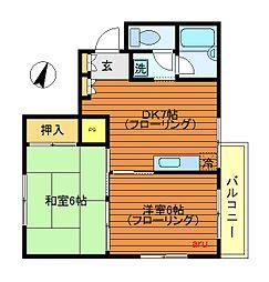 東京都武蔵野市吉祥寺東町2丁目の賃貸マンションの間取り